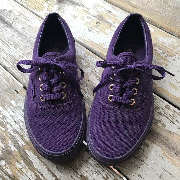 ec765047936792 Vans Solid Purple Shoes Like-New. M 5c48bd0d819e90e5485fb819